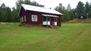I denna stuga i Järpliden bodde Kalle Jularbo när han träffade Elin.